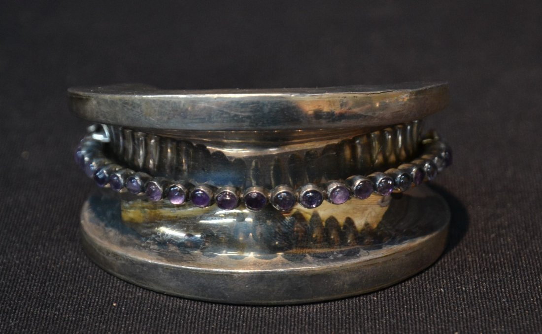 LARGE MEXICO STERLING CUFF BRACELET WITH