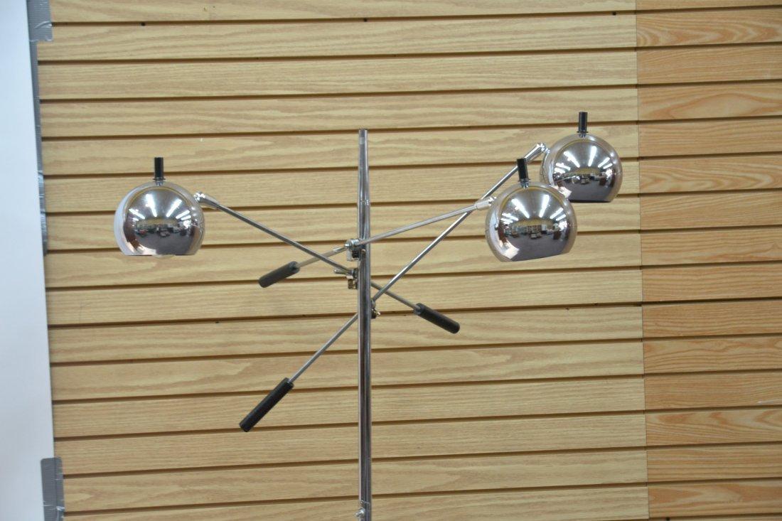 MODERN 3- BRANCH ORBITER CHROME FLOOR LAMP - 3