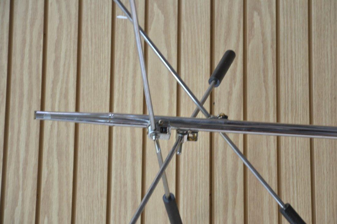 MODERN 3- BRANCH ORBITER CHROME FLOOR LAMP - 5