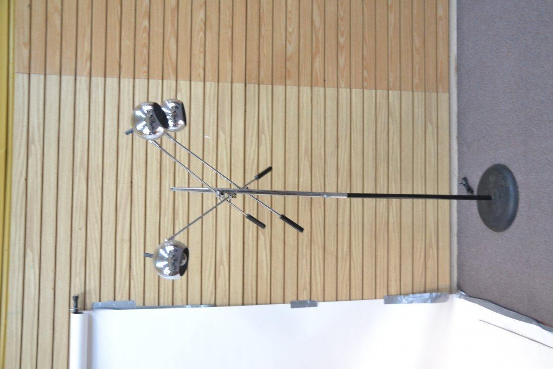MODERN 3- BRANCH ORBITER CHROME FLOOR LAMP - 6