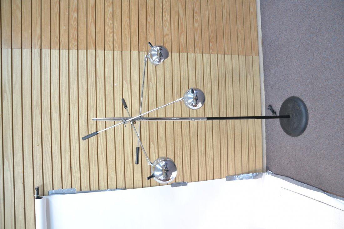 MODERN 3- BRANCH ORBITER CHROME FLOOR LAMP - 7