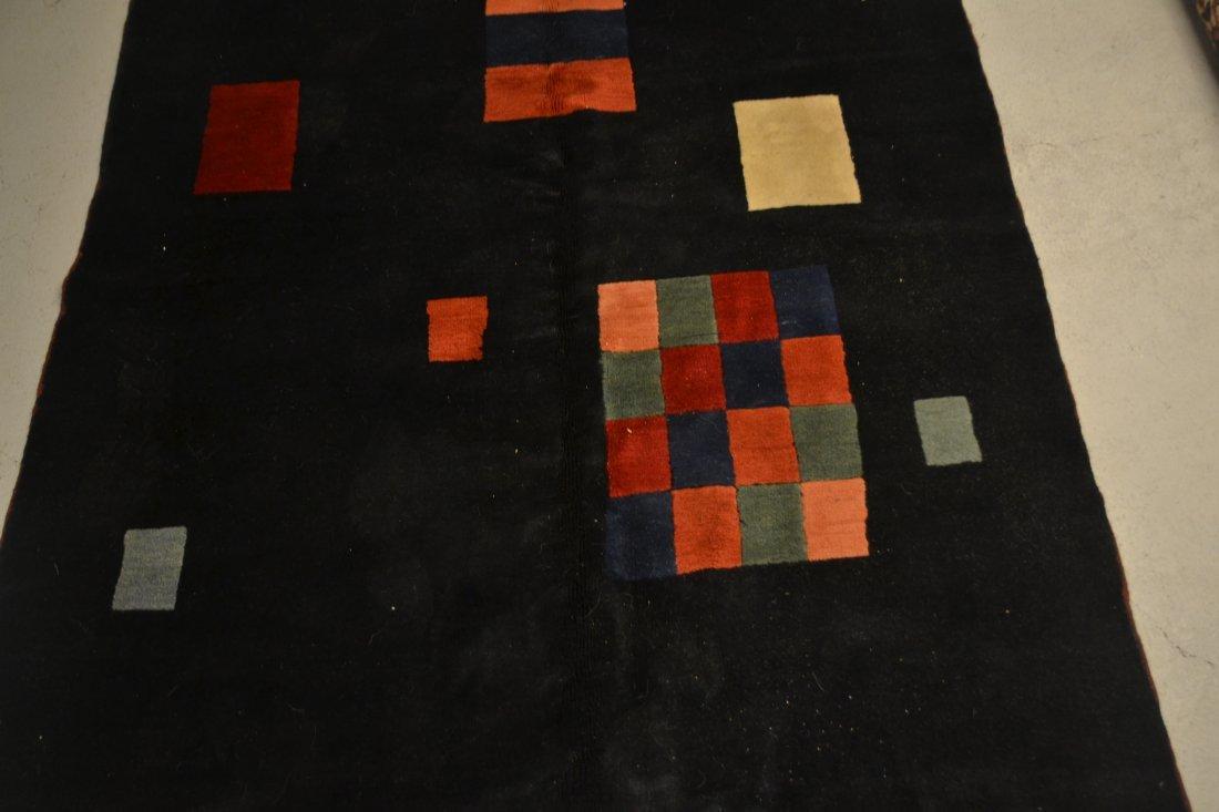 5' x 8' HAND MADE MODERN RUG ; ARTIST SIGNED - 6