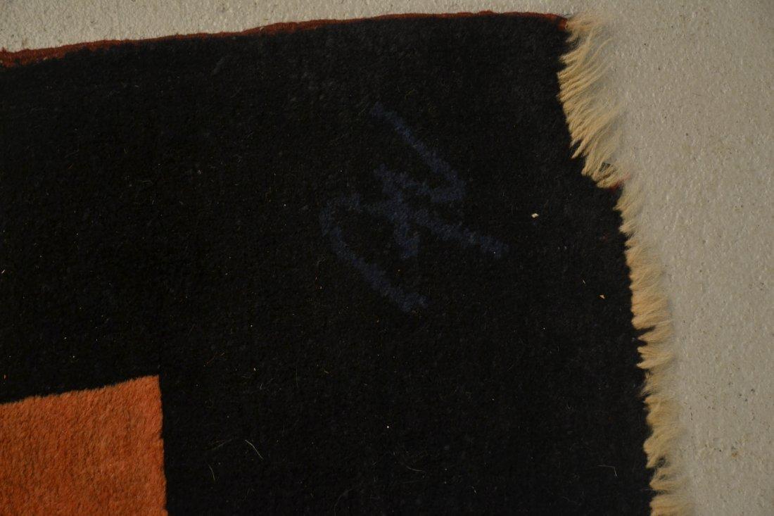 5' x 8' HAND MADE MODERN RUG ; ARTIST SIGNED - 8