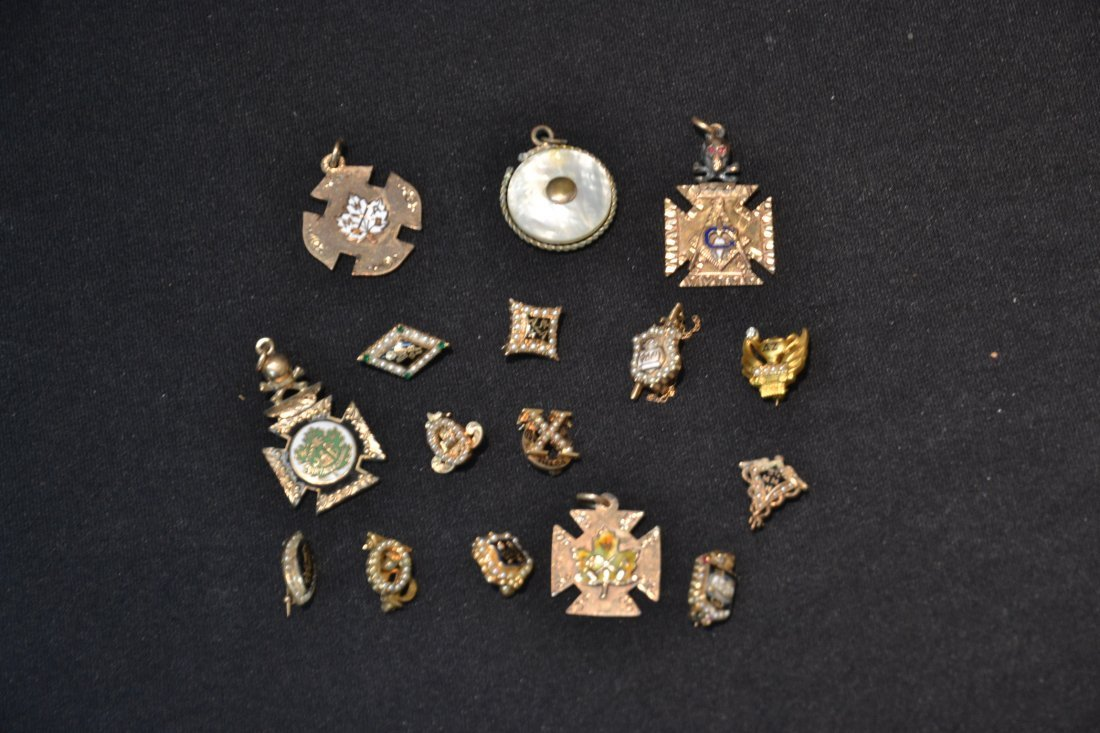 (16) ASSORTED FRATERNAL PINS - 3