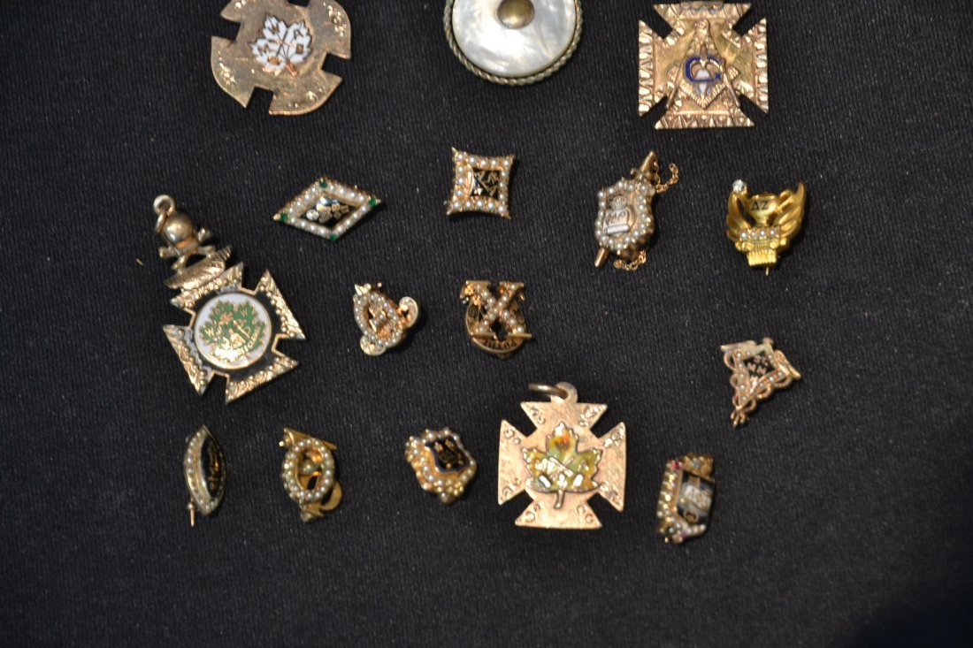 (16) ASSORTED FRATERNAL PINS - 4