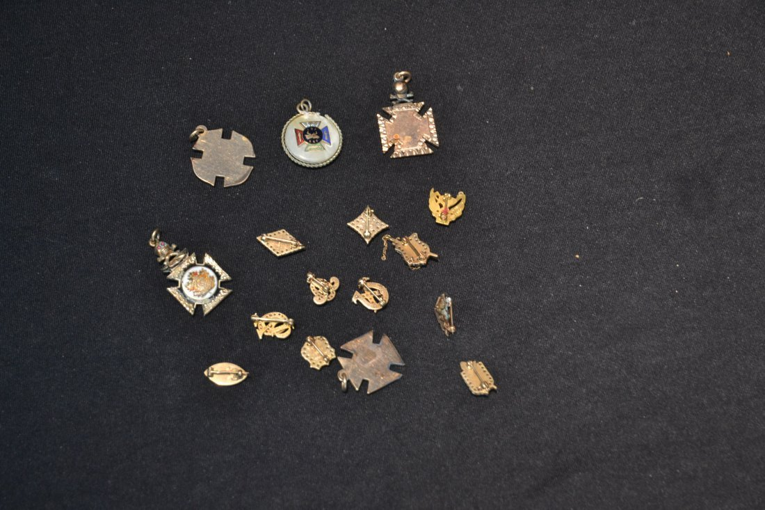 (16) ASSORTED FRATERNAL PINS - 8