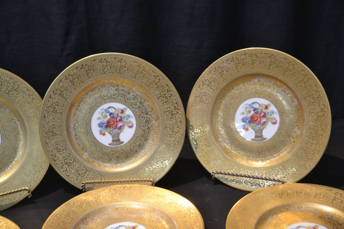 (10) HUTSCHENREUTHER GOLD SERVICE PLATES WITH - 2