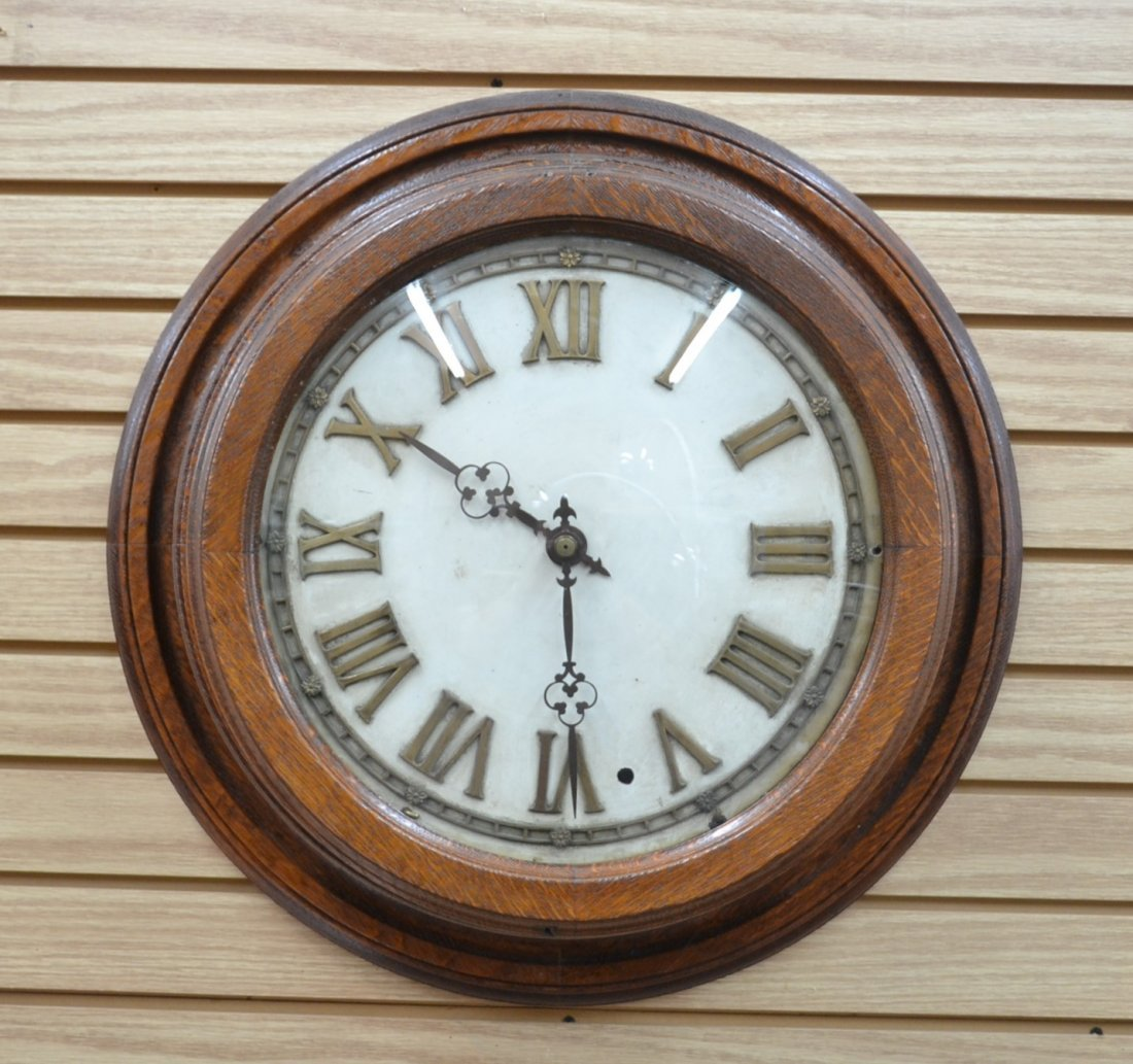 MASTER RAIL ROAD CLOCK WITH CONCAVE GLASS &