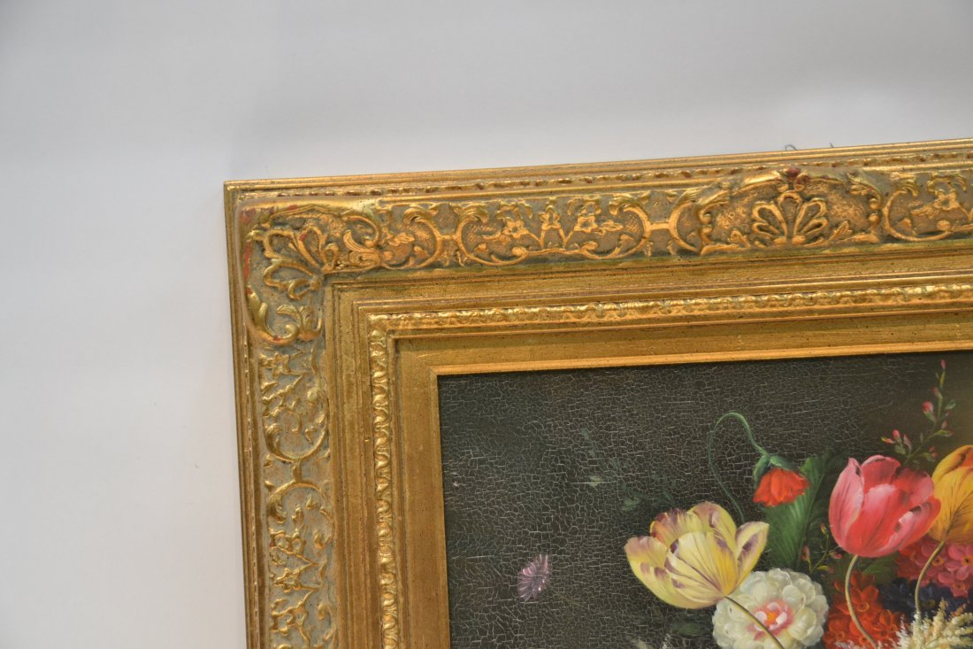 CONTEMPORARY OIL ON CANVAS FLORAL STILL LIFE - 6