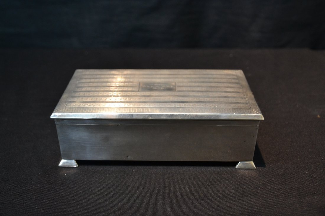 ENGLISH STERLING SILVER BOX - GEE HEE (1901-1928) - 2