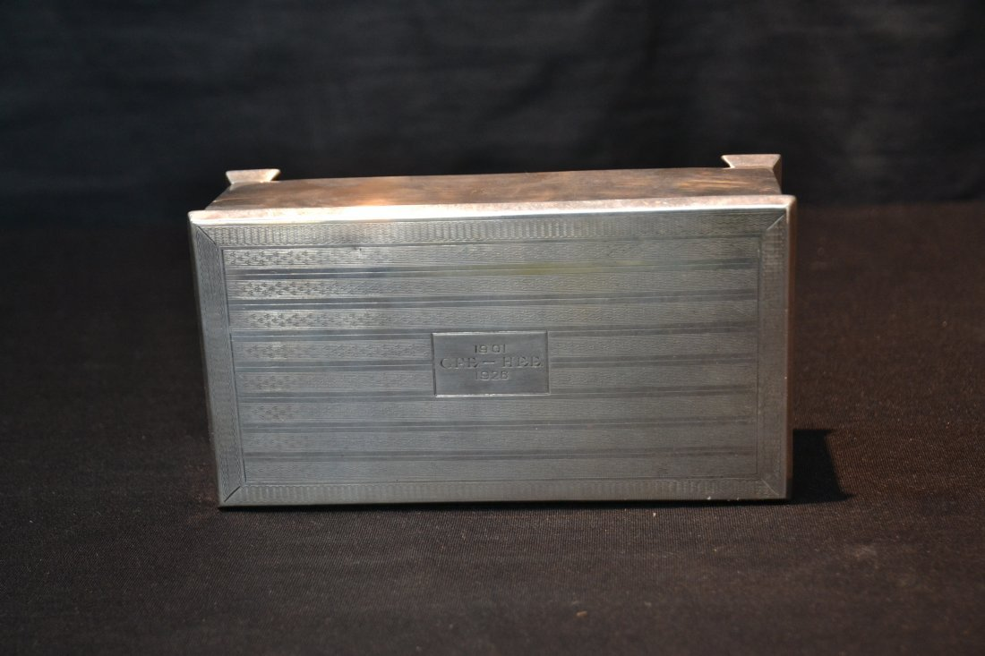 ENGLISH STERLING SILVER BOX - GEE HEE (1901-1928) - 4