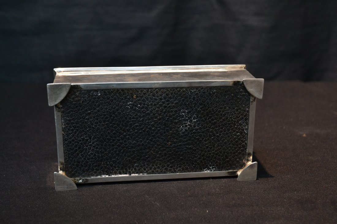 ENGLISH STERLING SILVER BOX - GEE HEE (1901-1928) - 7