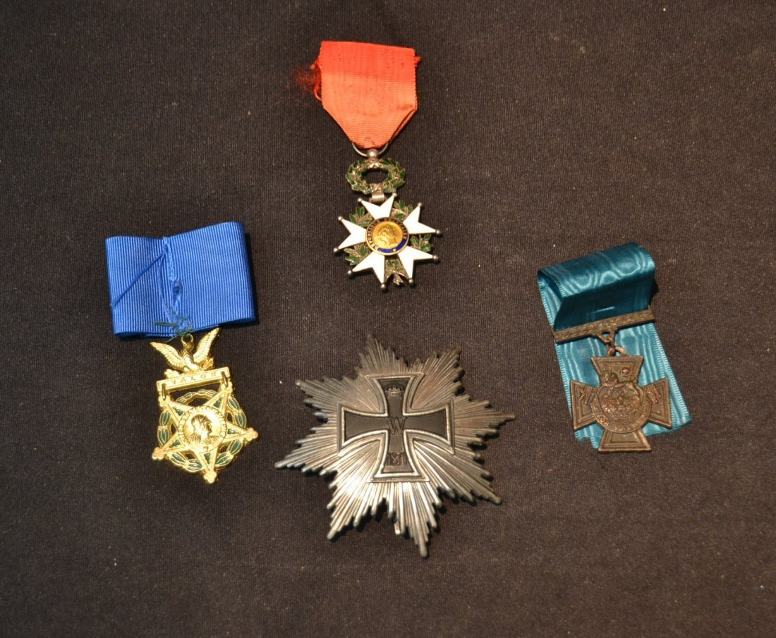 GERMAN . AMERICAN & FRENCH MEDALS