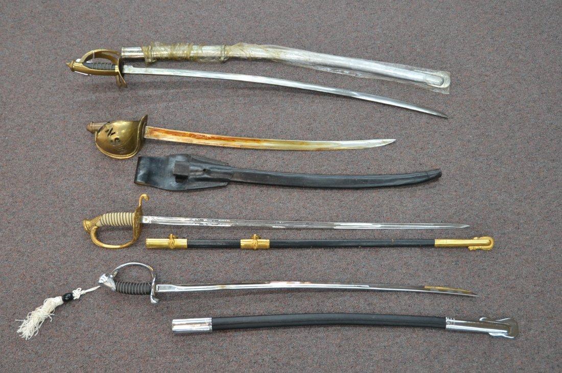 "(4) REPLICA OFFICERS SWORDS - 40"" LONG"
