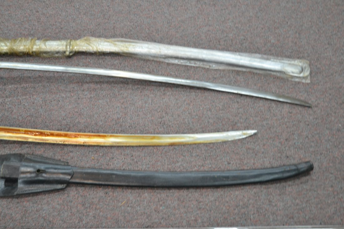 "(4) REPLICA OFFICERS SWORDS - 40"" LONG - 7"