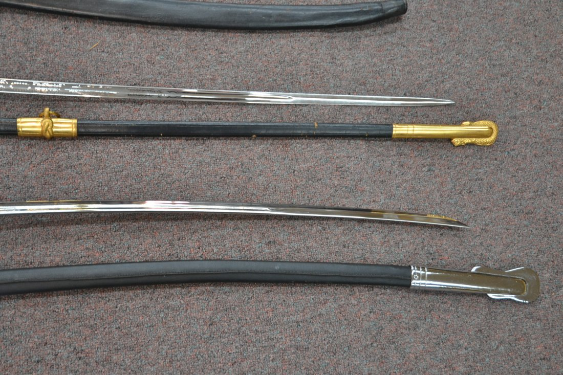 "(4) REPLICA OFFICERS SWORDS - 40"" LONG - 8"