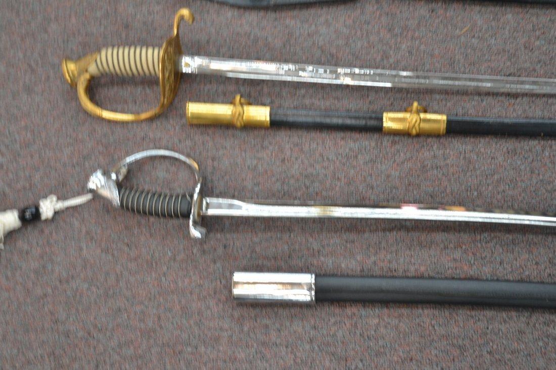 "(4) REPLICA OFFICERS SWORDS - 40"" LONG - 9"
