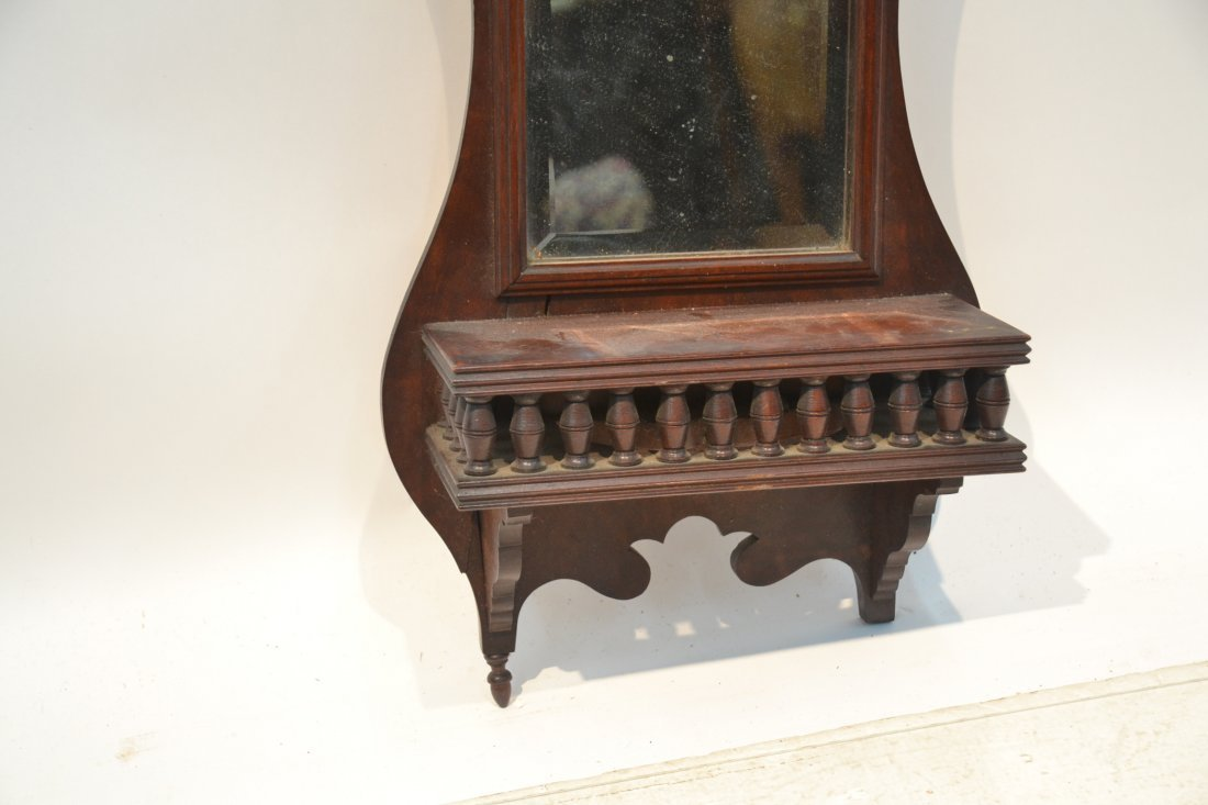 "VICTORIAN MIRROR WITH SHELF - 12"" x 24: - 3"