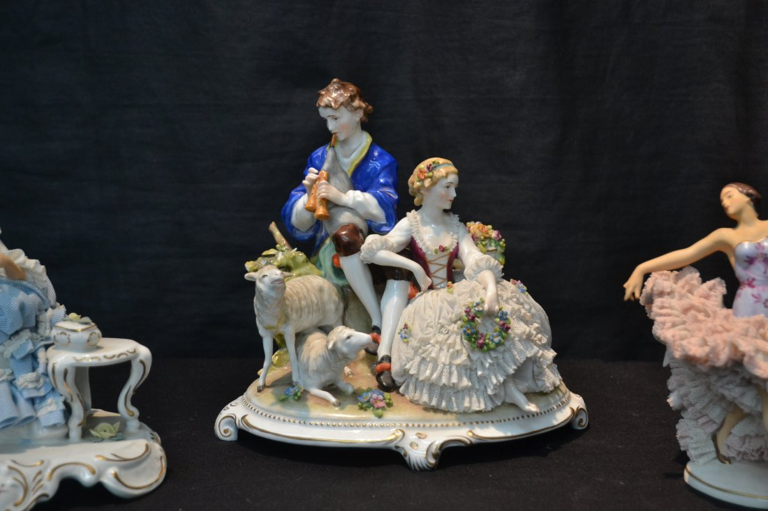 (3)pc's GERMAN PORCELAIN INCLUDING COURTING - 2