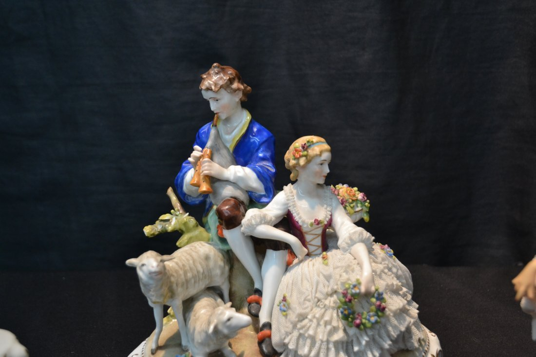 (3)pc's GERMAN PORCELAIN INCLUDING COURTING - 3