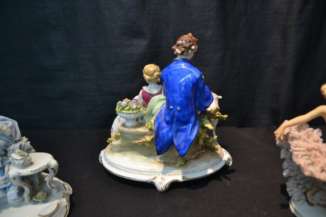 (3)pc's GERMAN PORCELAIN INCLUDING COURTING - 4