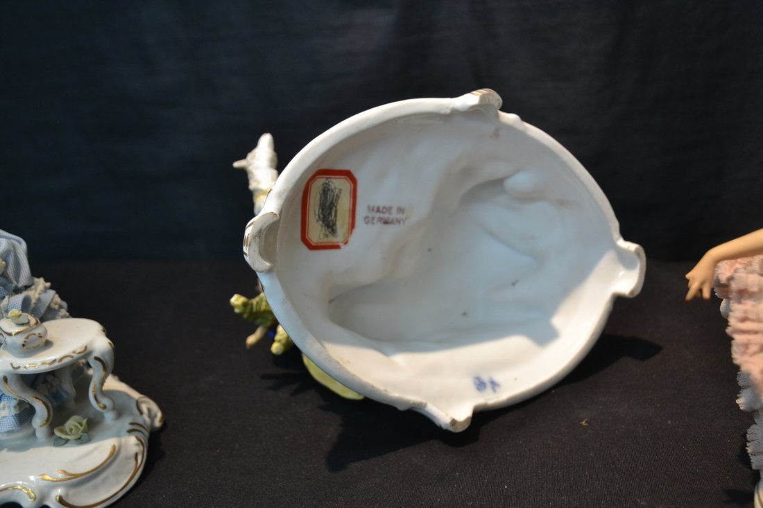 (3)pc's GERMAN PORCELAIN INCLUDING COURTING - 5