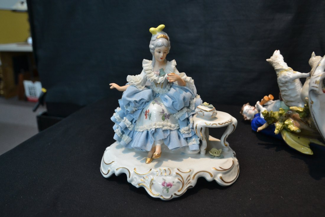 (3)pc's GERMAN PORCELAIN INCLUDING COURTING - 6