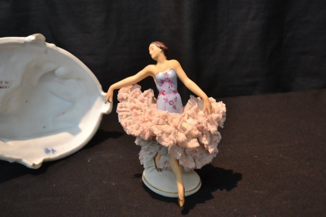 (3)pc's GERMAN PORCELAIN INCLUDING COURTING - 8