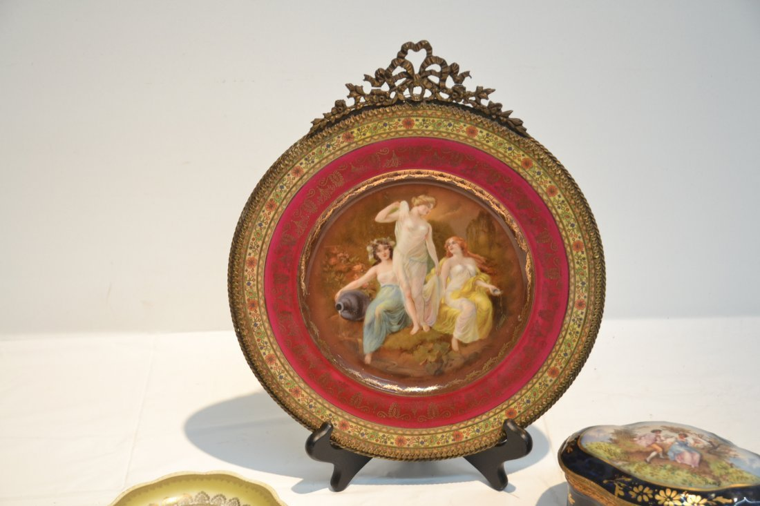 PORCELAIN LOT - CZECH PLATE OF (3) NYMPHS WITH - 3