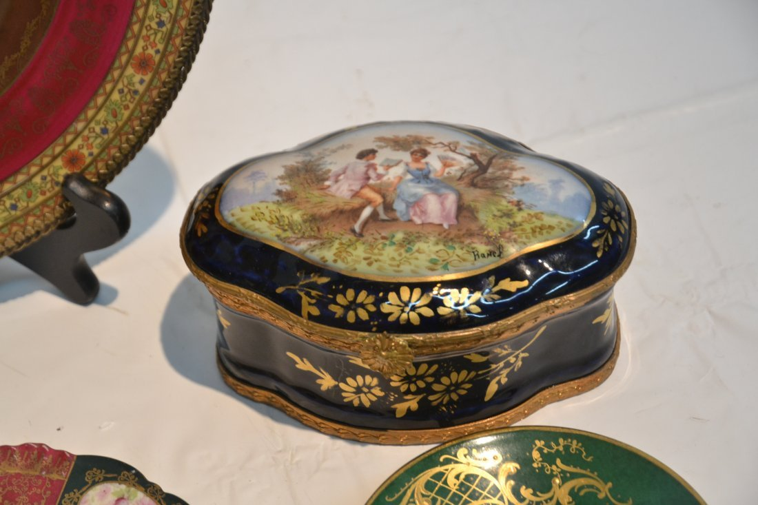 PORCELAIN LOT - CZECH PLATE OF (3) NYMPHS WITH - 6