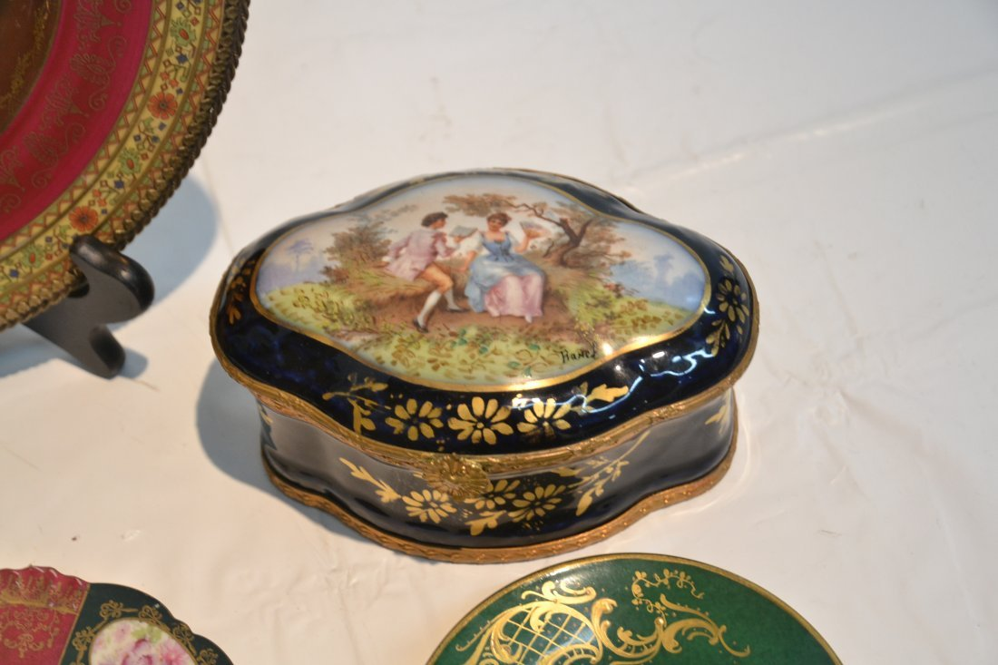 PORCELAIN LOT - CZECH PLATE OF (3) NYMPHS WITH - 7