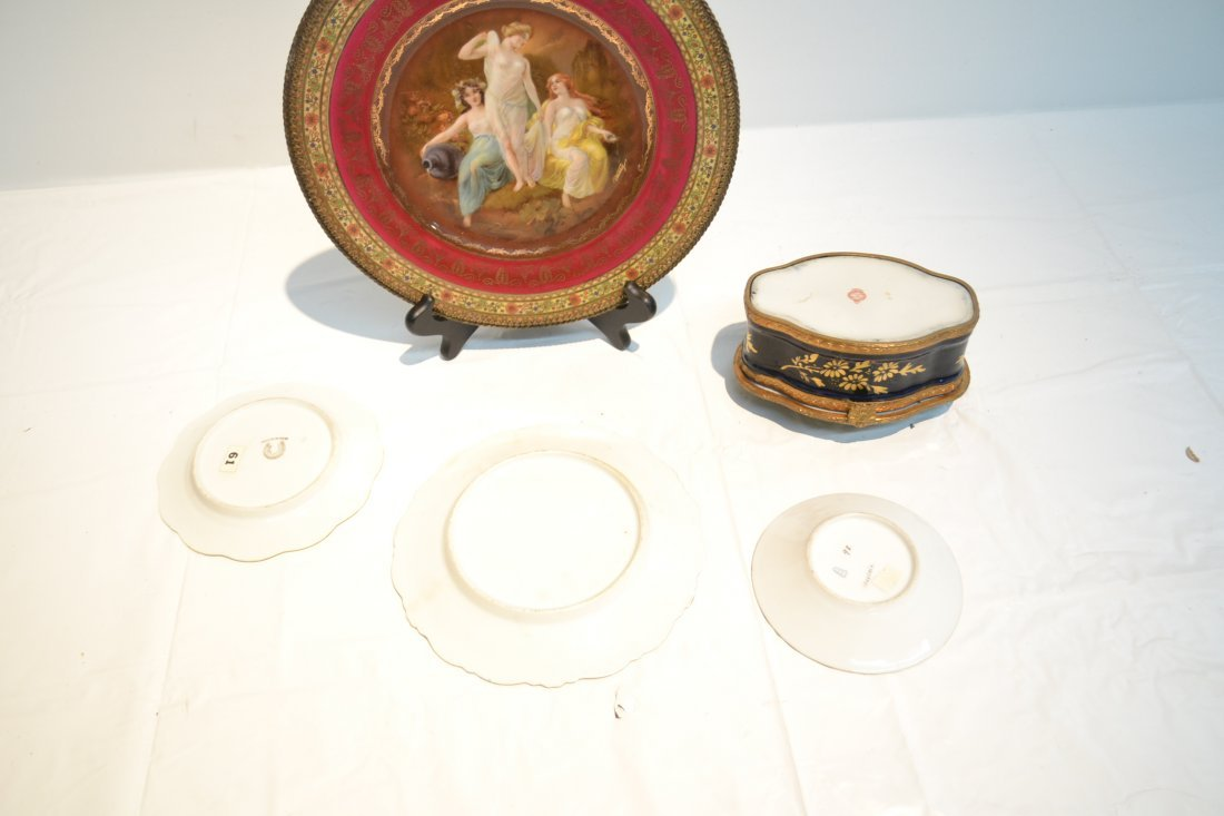 PORCELAIN LOT - CZECH PLATE OF (3) NYMPHS WITH - 9