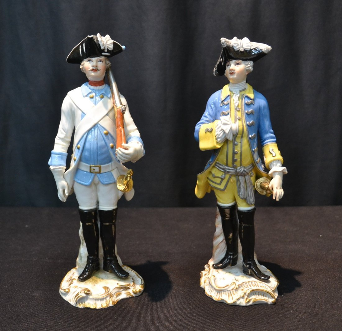 (2) MEISSEN NAPOLEONIC FRENCH SOLDIERS