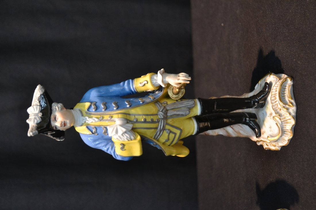 (2) MEISSEN NAPOLEONIC FRENCH SOLDIERS - 2