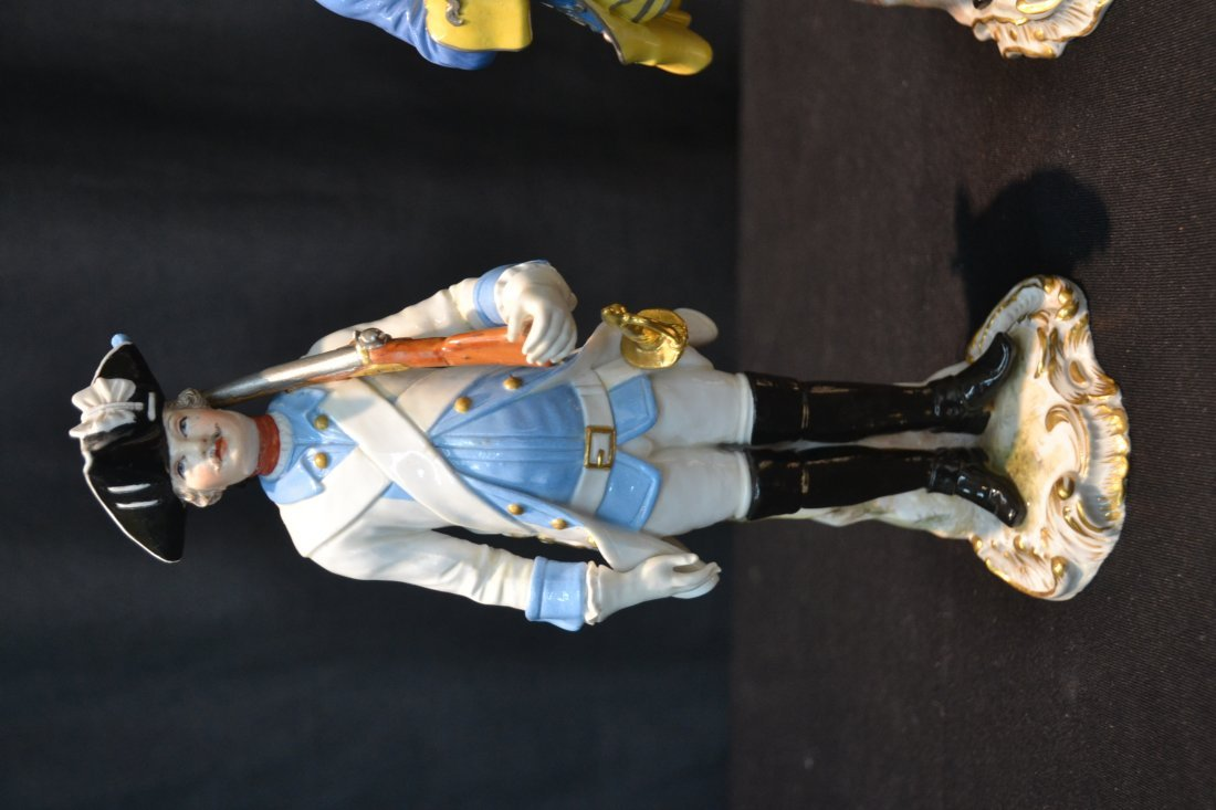(2) MEISSEN NAPOLEONIC FRENCH SOLDIERS - 3