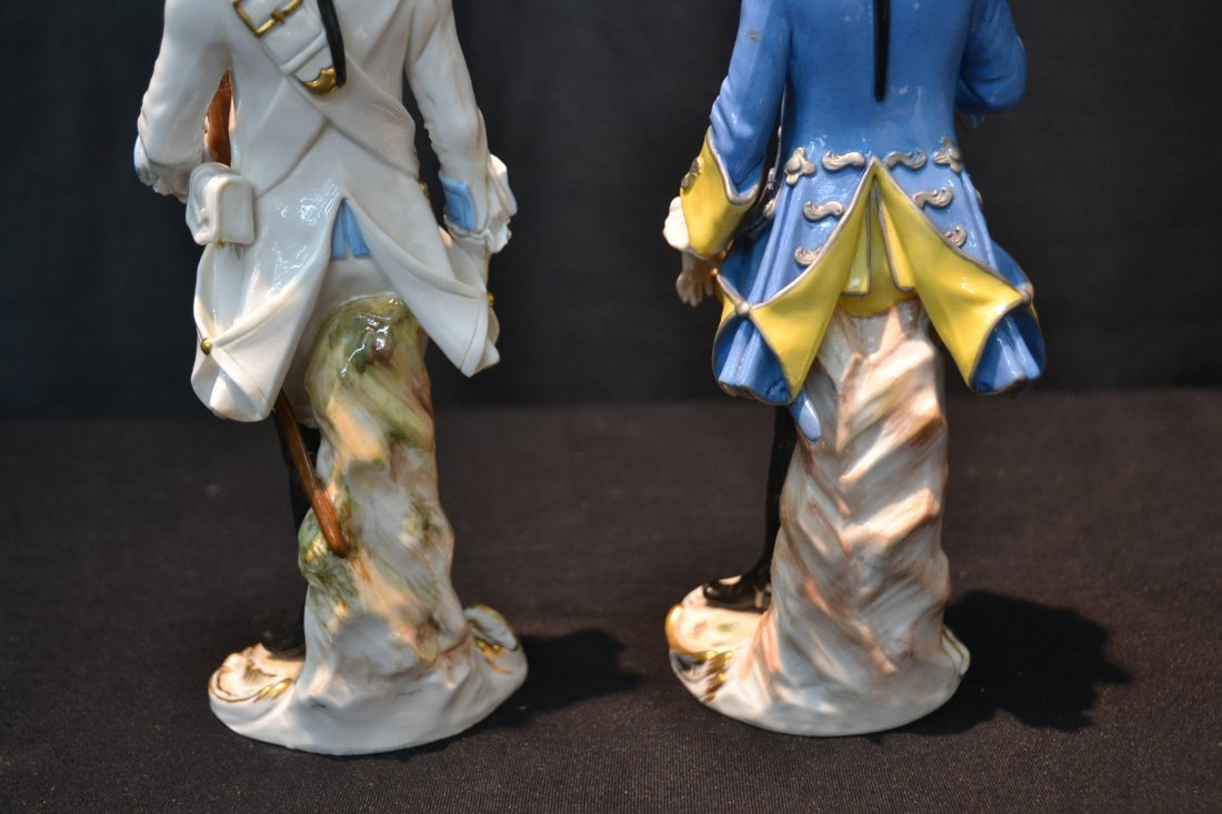 (2) MEISSEN NAPOLEONIC FRENCH SOLDIERS - 5