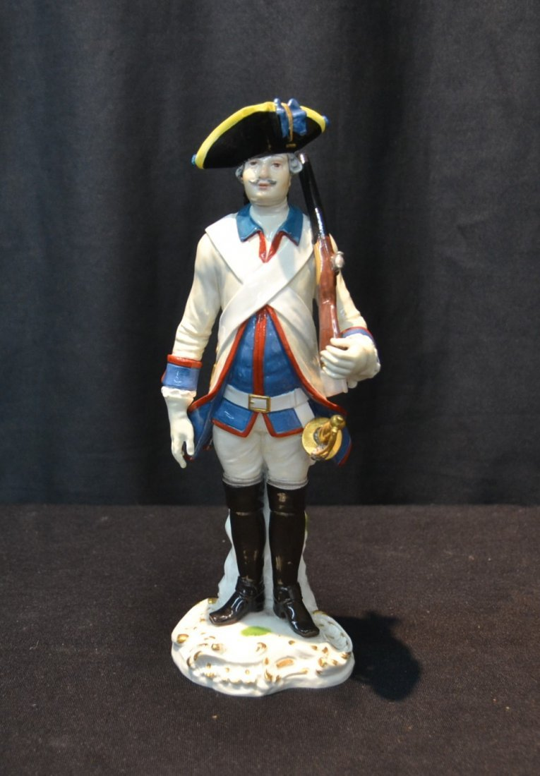 "MEISSEN PORCELAIN FRENCH SOLDIER - 3"" x 9"""