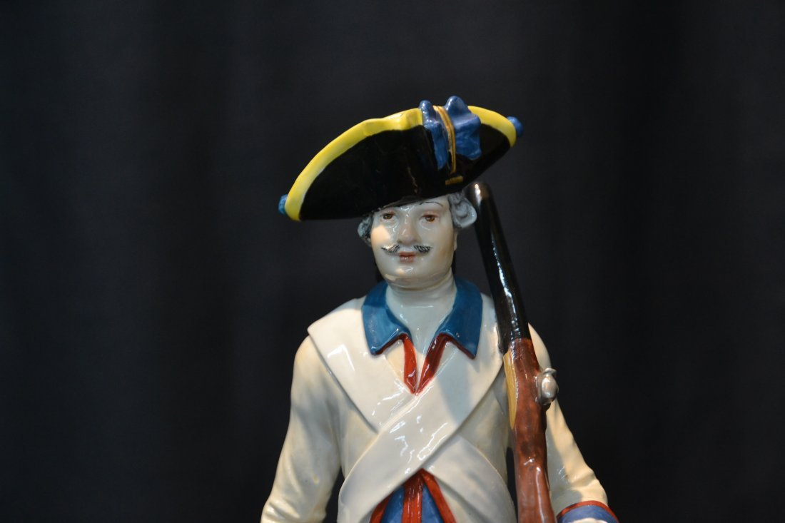 "MEISSEN PORCELAIN FRENCH SOLDIER - 3"" x 9"" - 2"