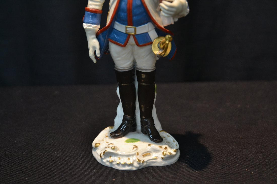 "MEISSEN PORCELAIN FRENCH SOLDIER - 3"" x 9"" - 3"