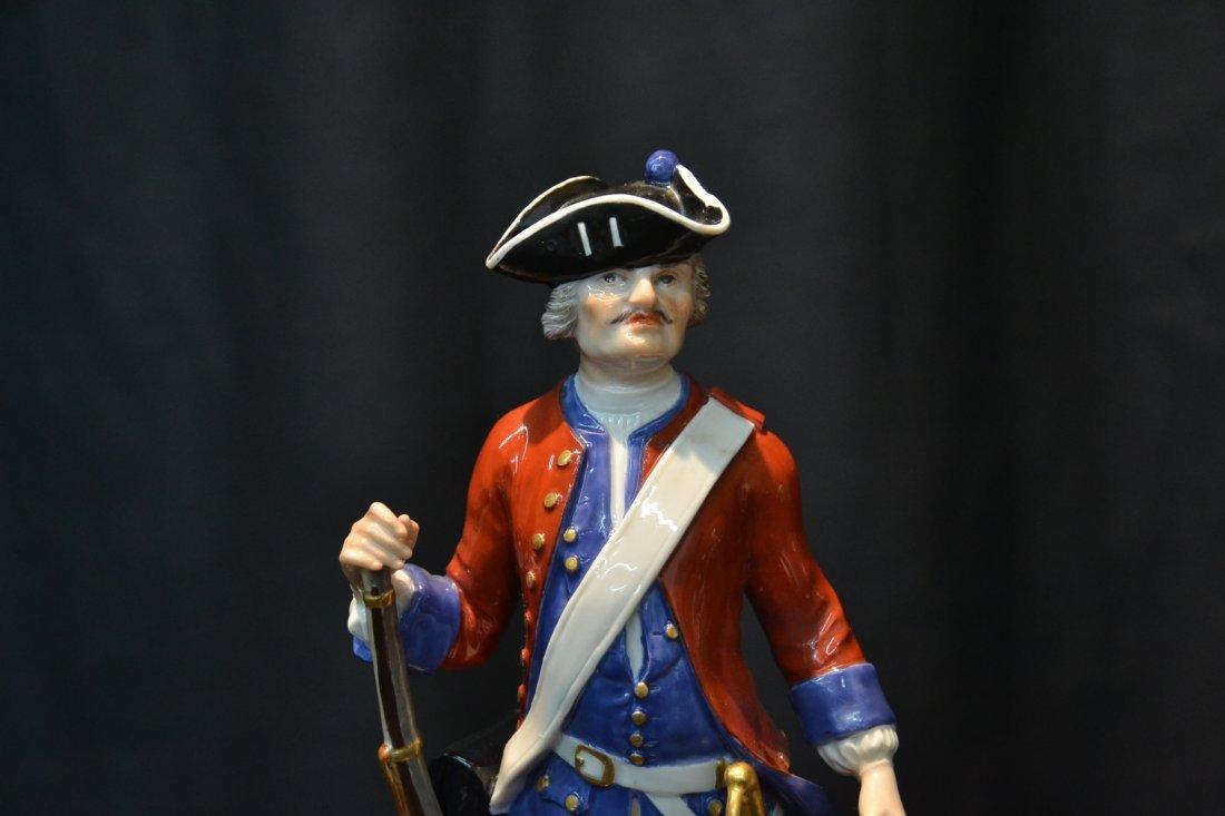 MEISSEN RED & BLUE WAIST COAT FRENCH SOLDIER - 3