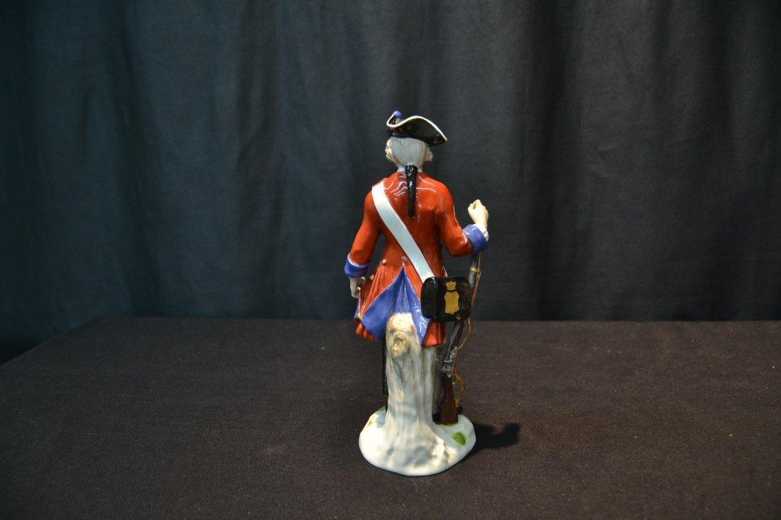 MEISSEN RED & BLUE WAIST COAT FRENCH SOLDIER - 5