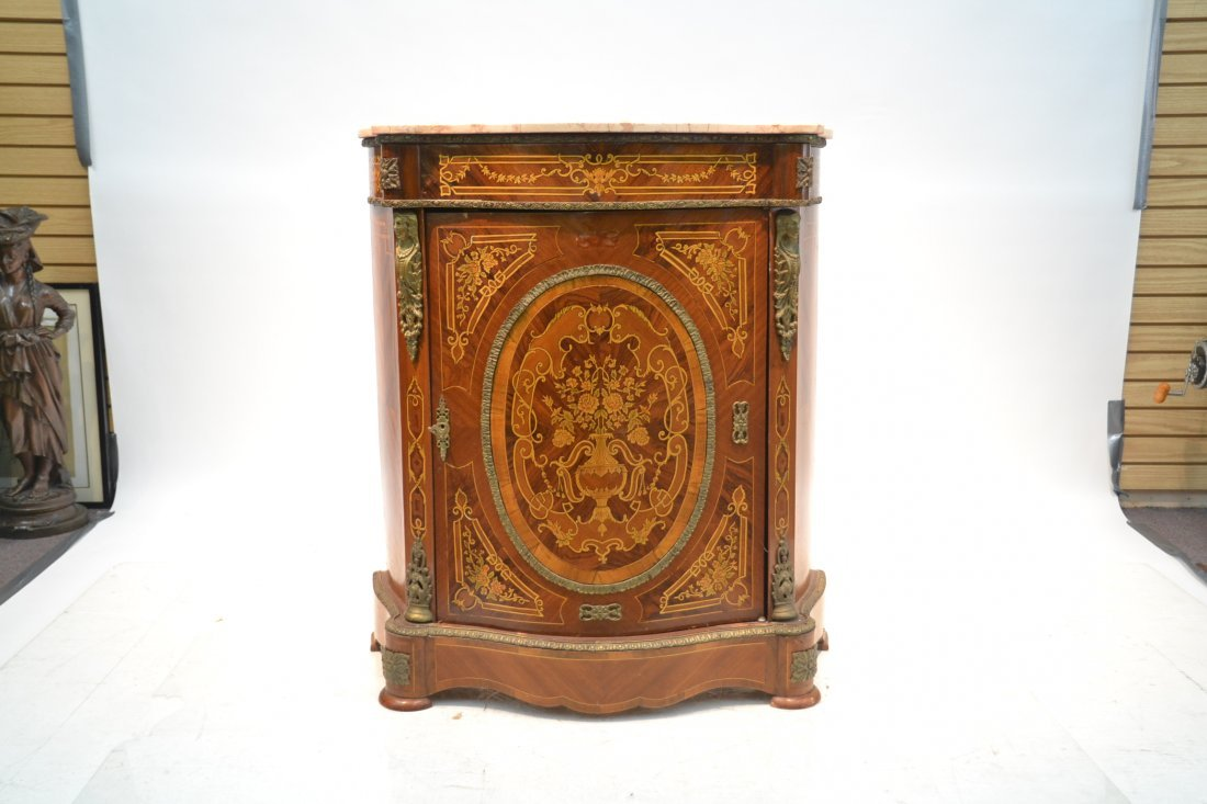 CONTEMPORARY INLAID SIDE CABINET WITH BRONZE - 2