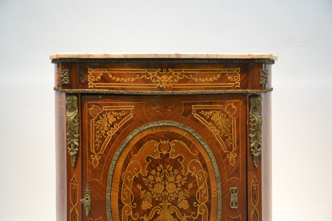 CONTEMPORARY INLAID SIDE CABINET WITH BRONZE - 3