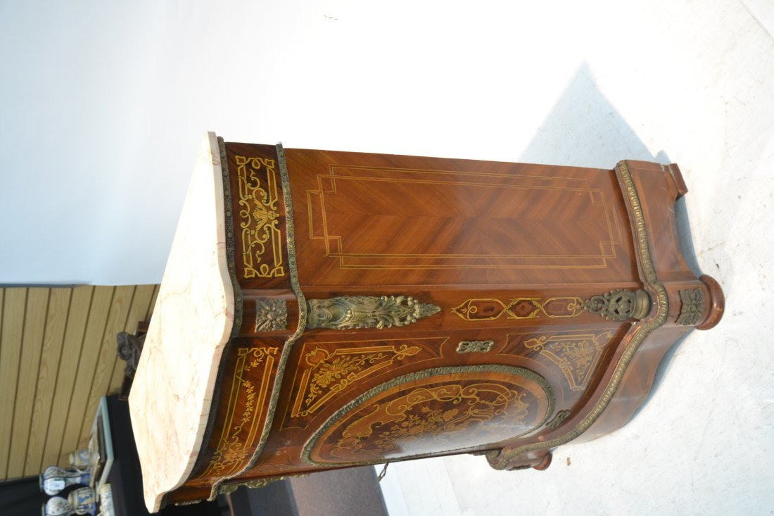 CONTEMPORARY INLAID SIDE CABINET WITH BRONZE - 4