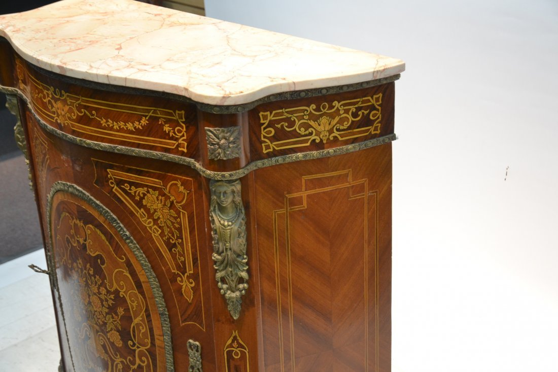 CONTEMPORARY INLAID SIDE CABINET WITH BRONZE - 5