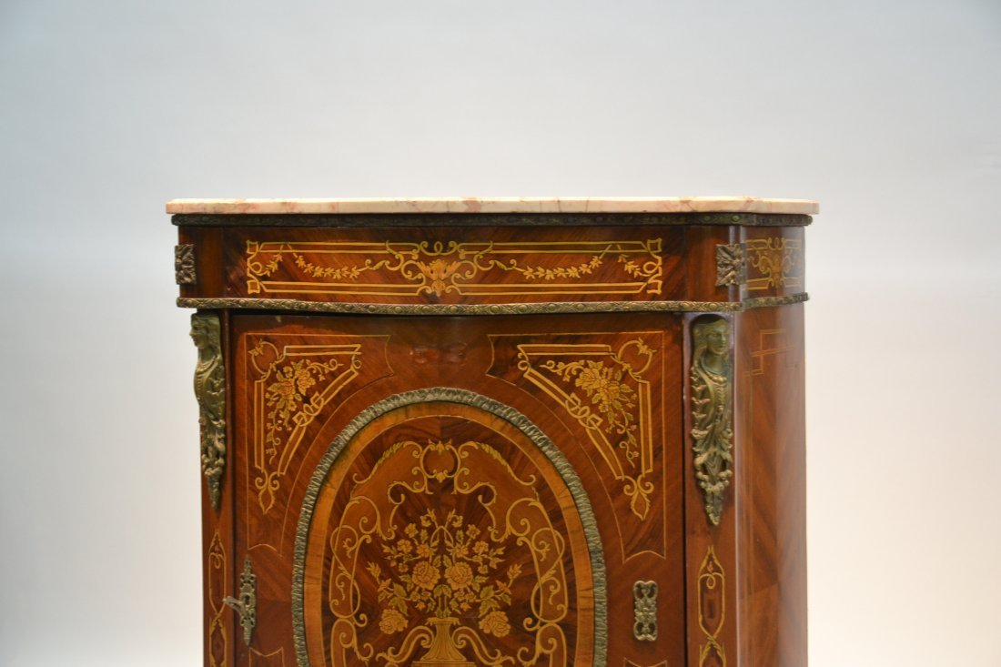CONTEMPORARY INLAID SIDE CABINET WITH BRONZE - 6