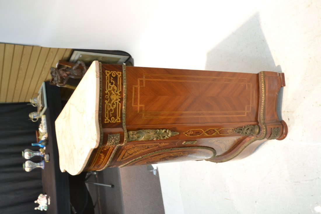 CONTEMPORARY INLAID SIDE CABINET WITH BRONZE - 7