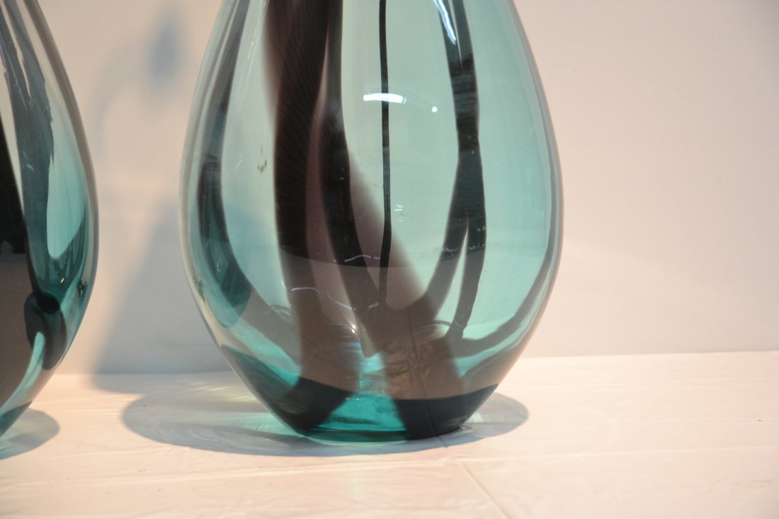 (Pr) TALL MURANO ART GLASS TABLE LAMPS WITH - 5