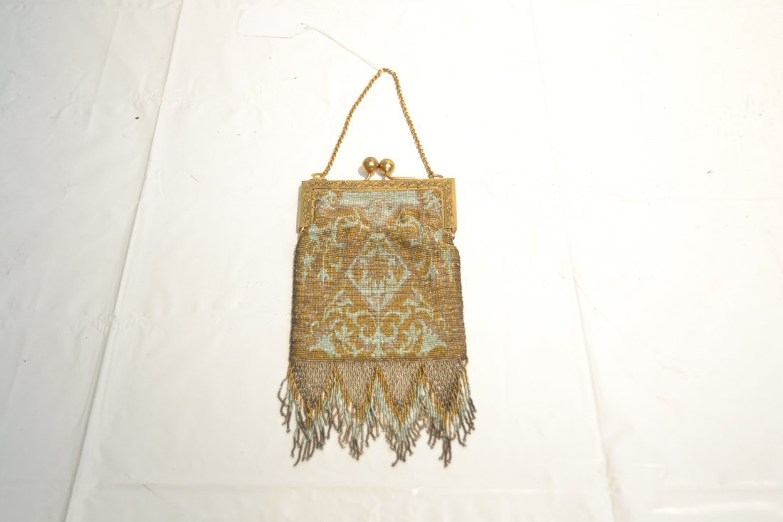 VICTORIAN BEADED BAG WITH LONG FRINGE - 2