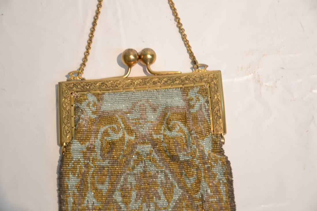 VICTORIAN BEADED BAG WITH LONG FRINGE - 3